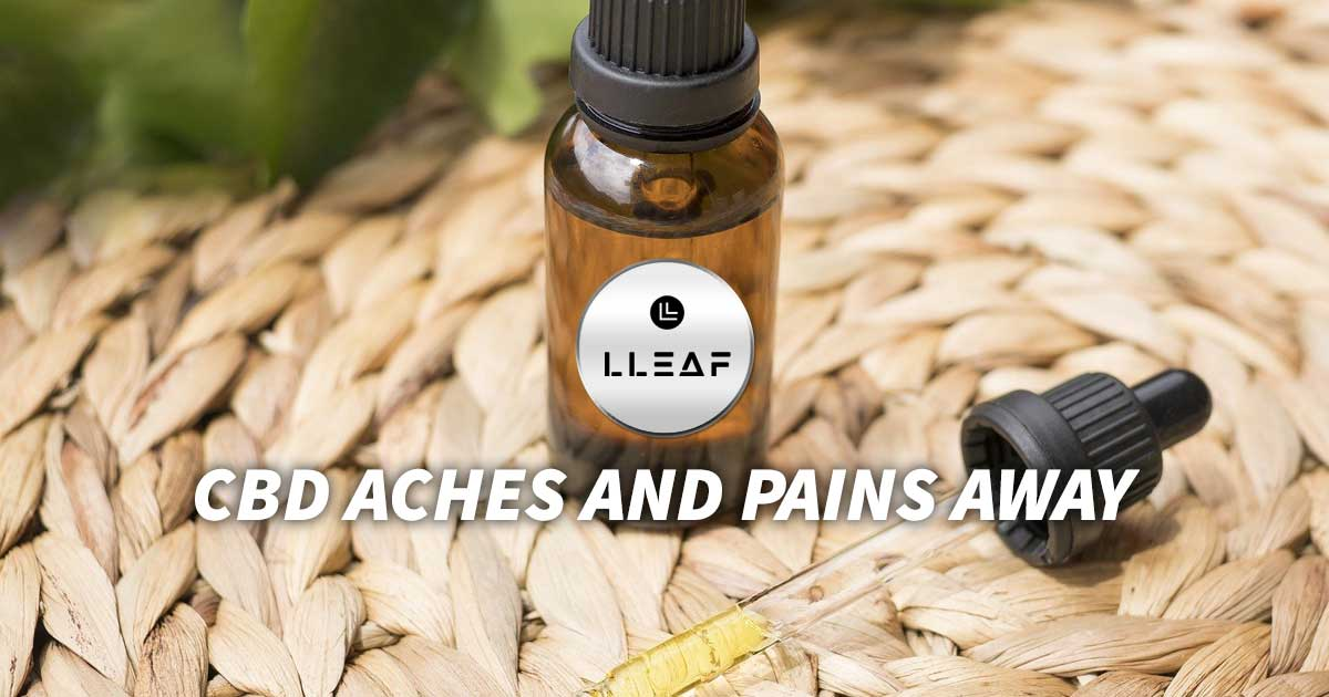 CBD Aches and Pains Away, www.shoplleaf.com