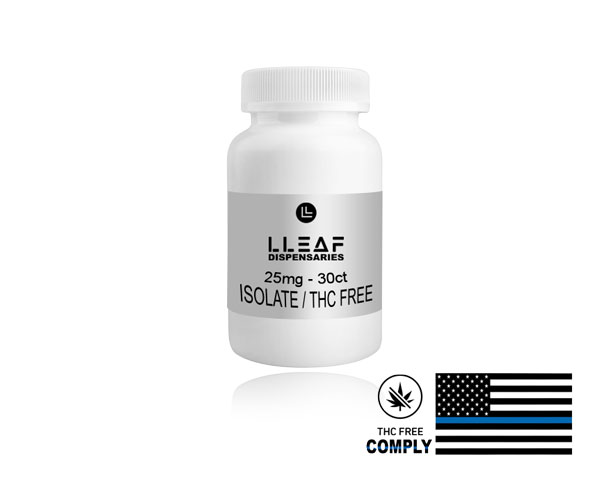 THC FREE / Isolate, 25mg CBD Capsules  - $46.99. Tennessee local CBD